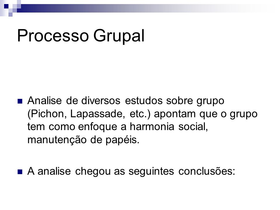 Processo Grupal