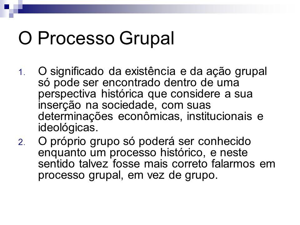 O Processo Grupal