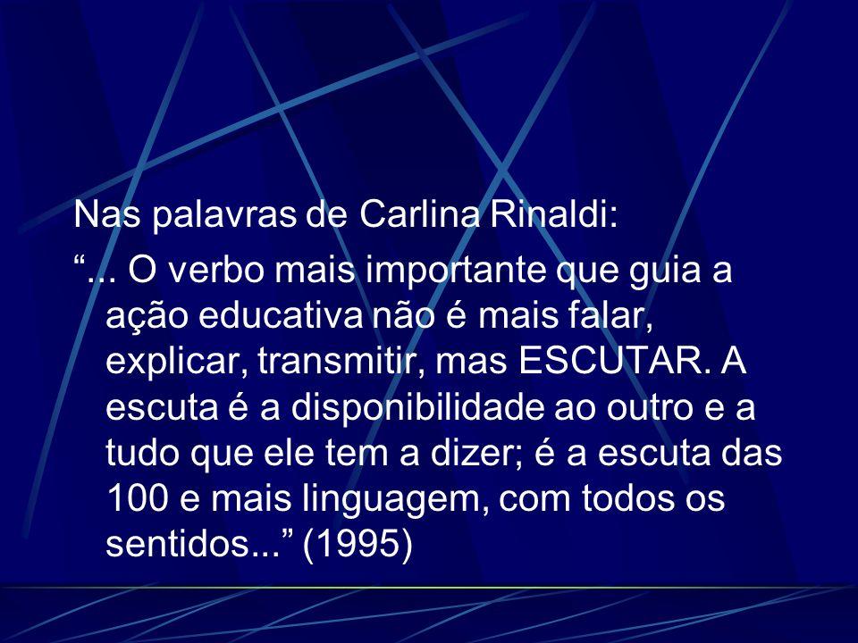 Nas palavras de Carlina Rinaldi: