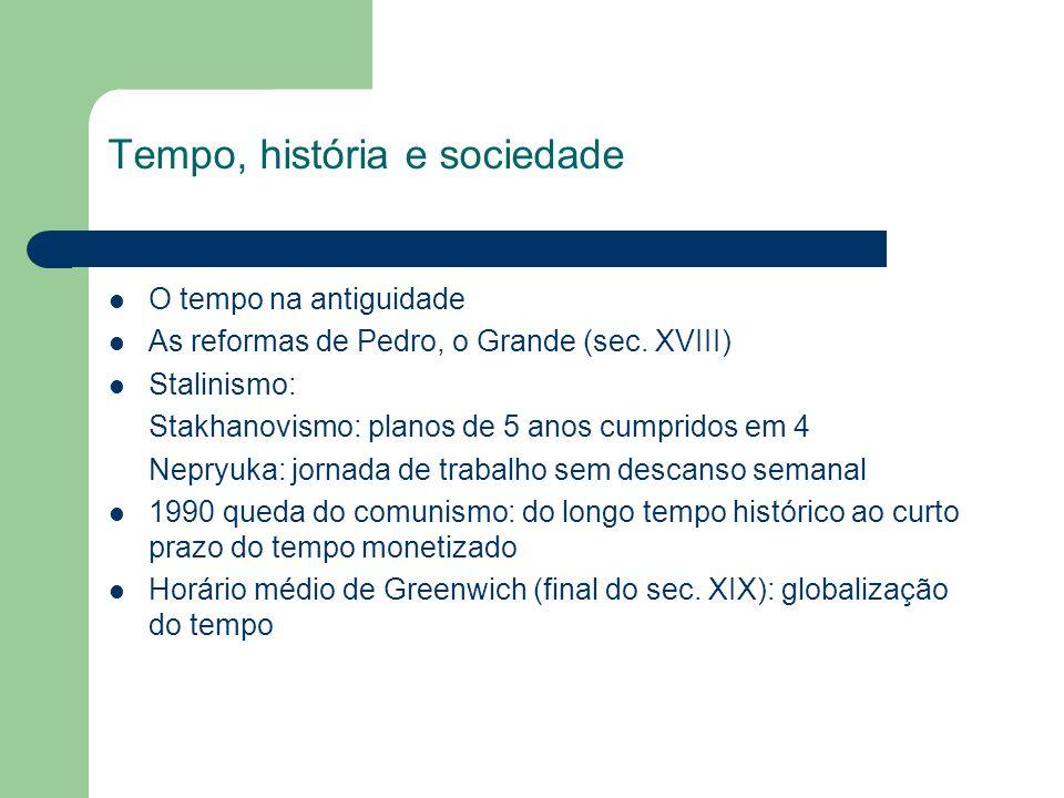 Tempo, história e sociedade