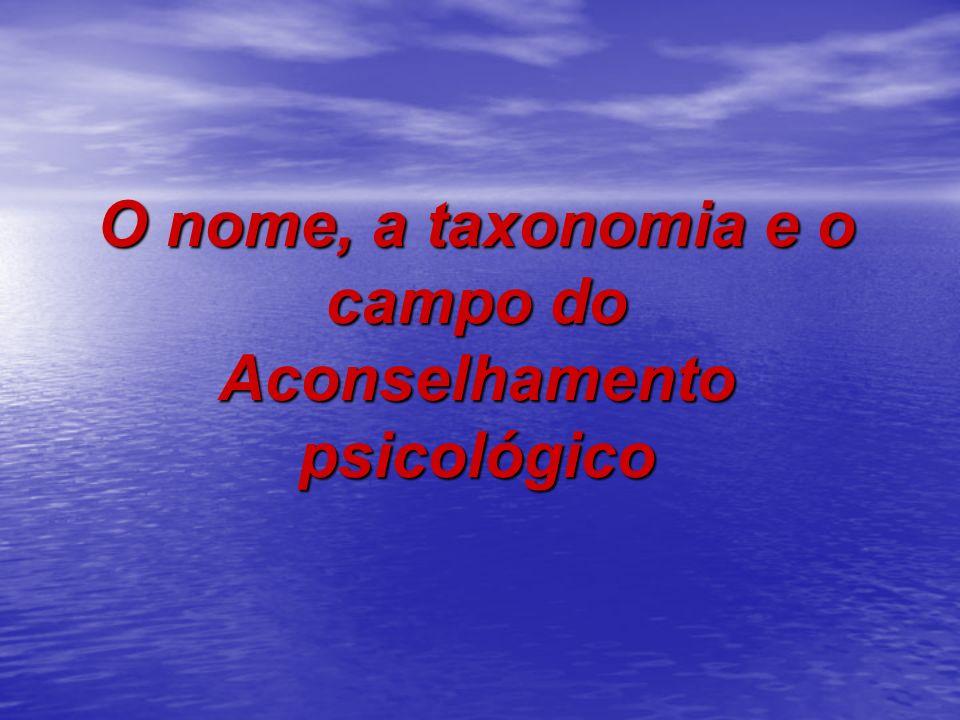 O nome, a taxonomia e o campo do Aconselhamento psicológico