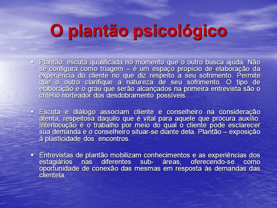 O plantão psicológico