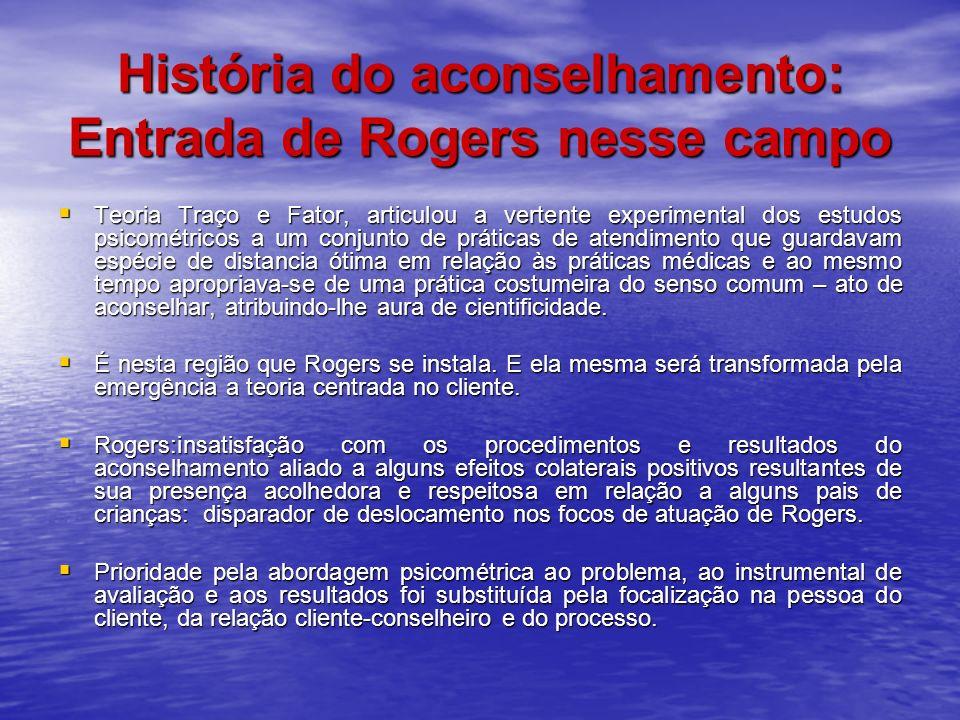 História do aconselhamento: Entrada de Rogers nesse campo