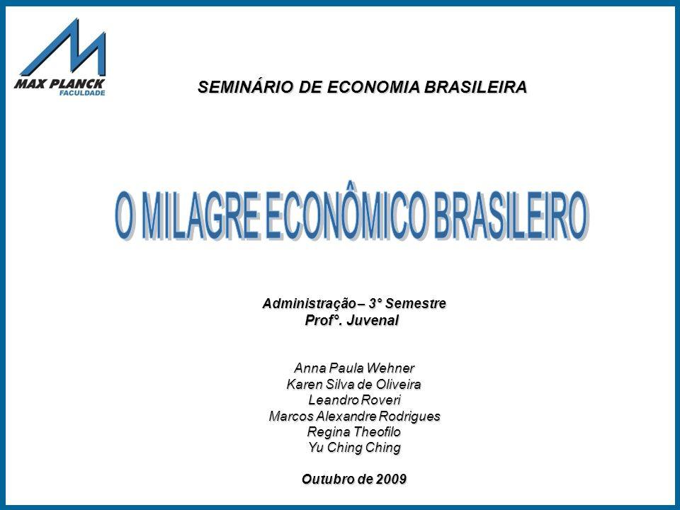 O MILAGRE ECONÔMICO BRASILEIRO Administração – 3° Semestre