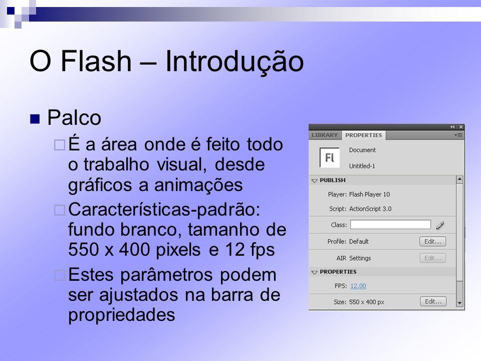 O Flash – Introdução Palco