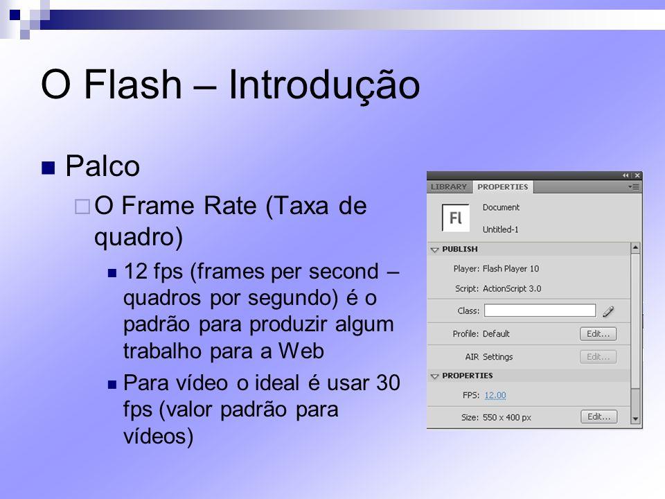 O Flash – Introdução Palco O Frame Rate (Taxa de quadro)