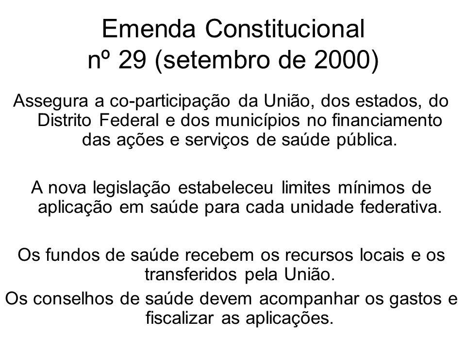 Emenda Constitucional nº 29 (setembro de 2000)