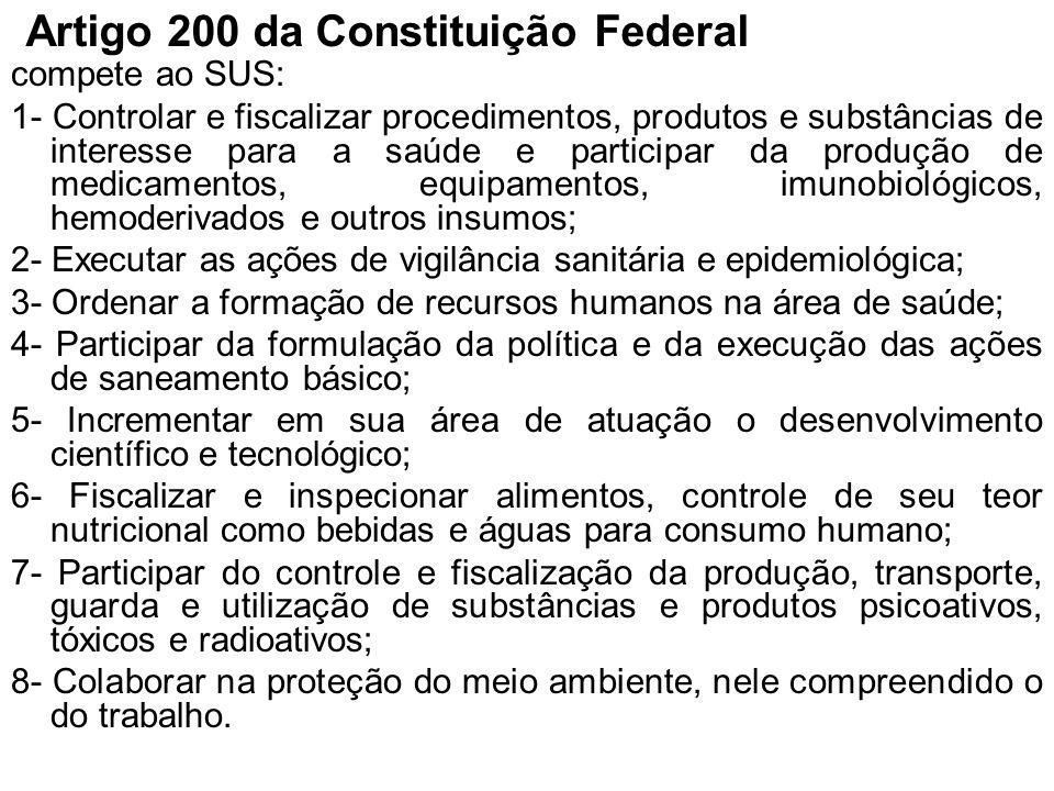 Artigo 200 da Constituição Federal