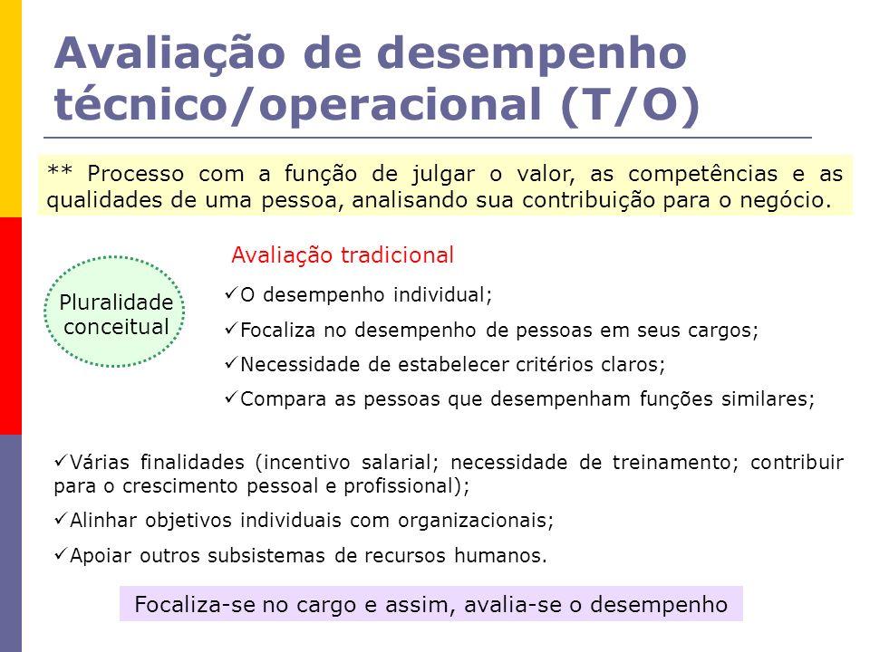 Avaliação de desempenho técnico/operacional (T/O)