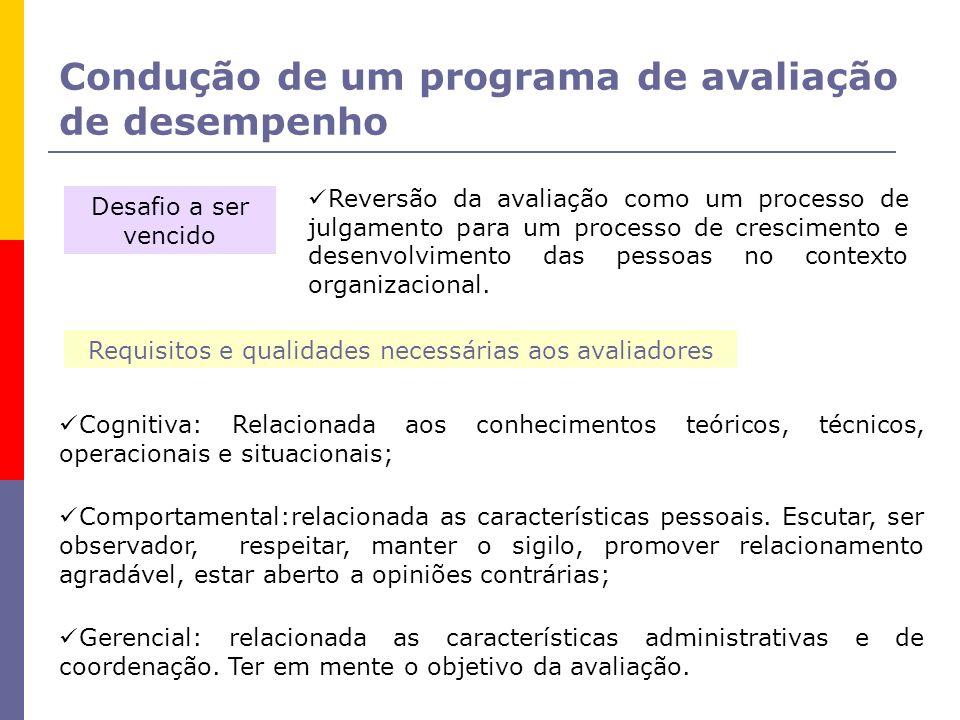 Requisitos e qualidades necessárias aos avaliadores