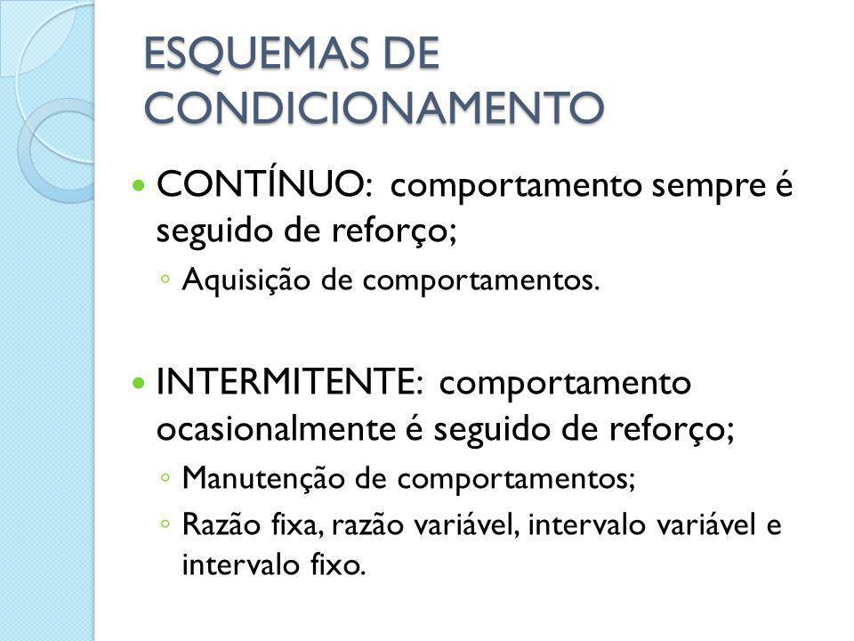 ESQUEMAS DE CONDICIONAMENTO