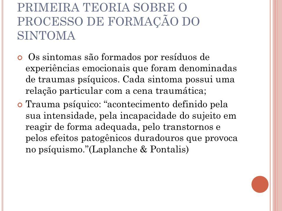 PRIMEIRA TEORIA SOBRE O PROCESSO DE FORMAÇÃO DO SINTOMA