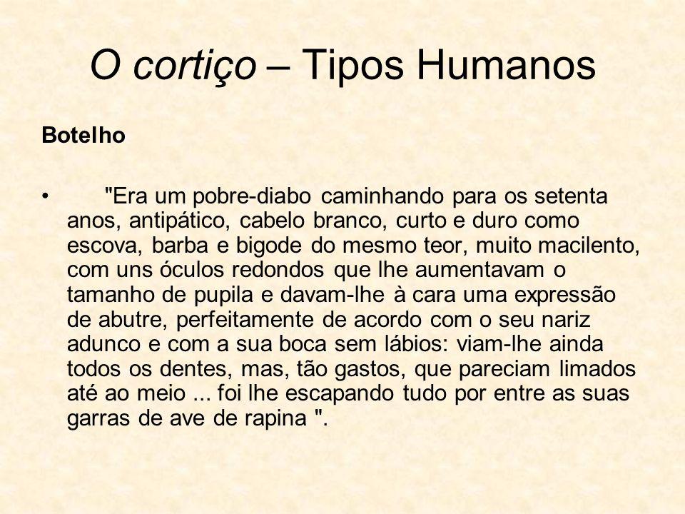 O cortiço – Tipos Humanos