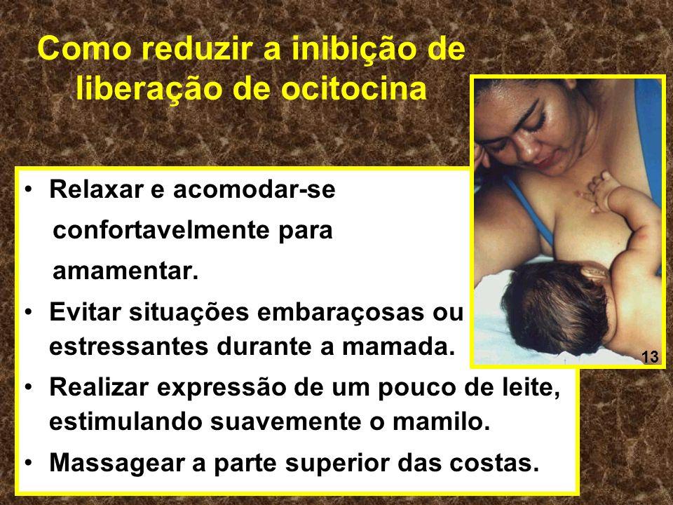 Como reduzir a inibição de liberação de ocitocina