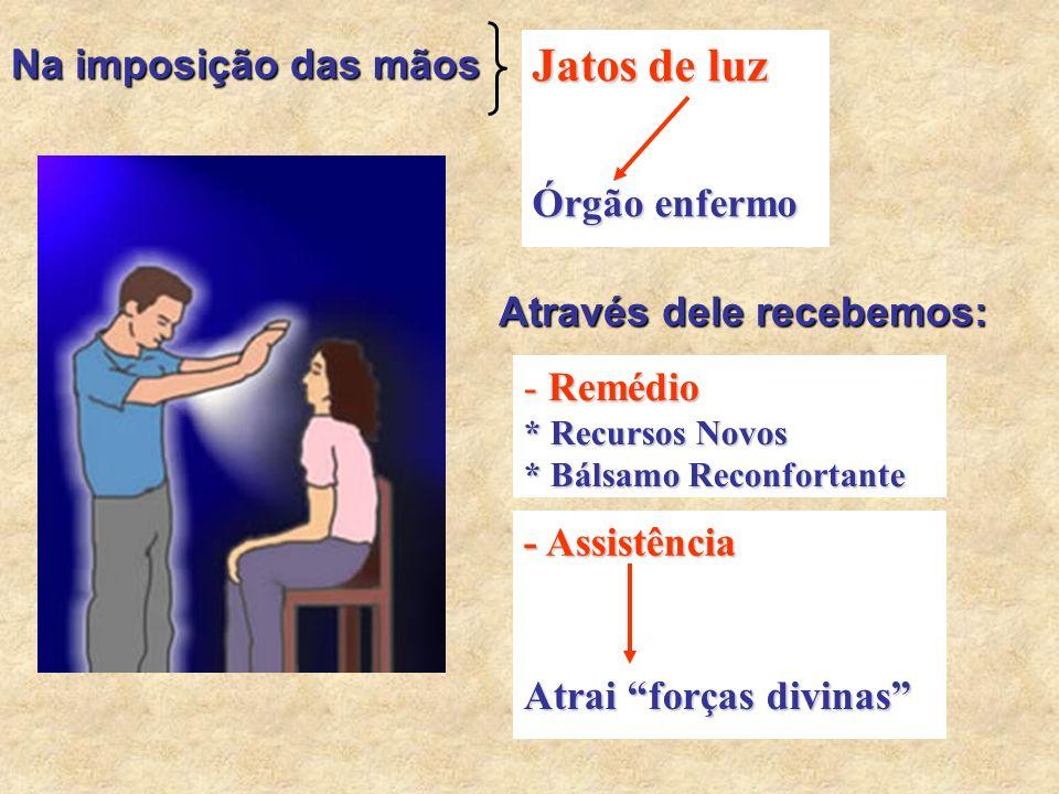 Jatos de luz Na imposição das mãos Órgão enfermo