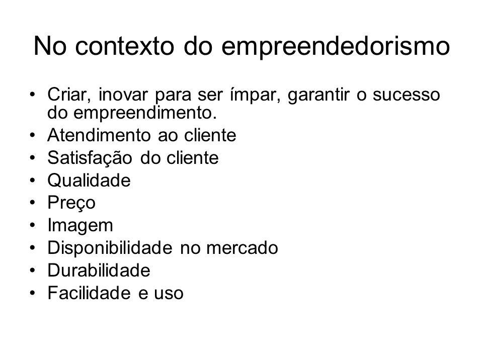 No contexto do empreendedorismo