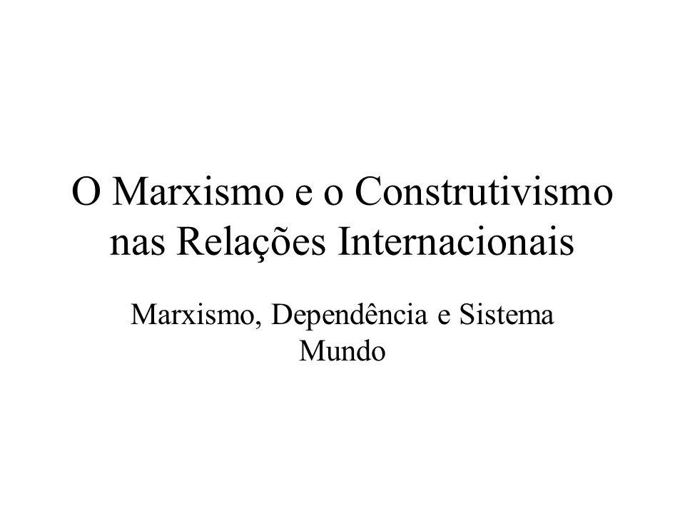 O Marxismo e o Construtivismo nas Relações Internacionais