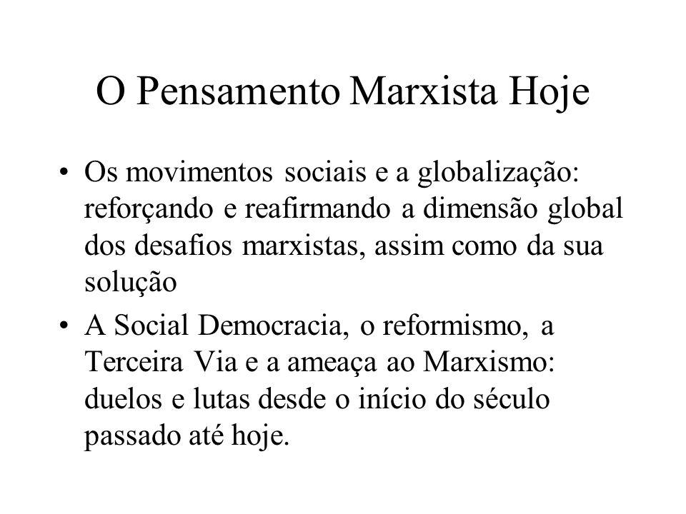 O Pensamento Marxista Hoje