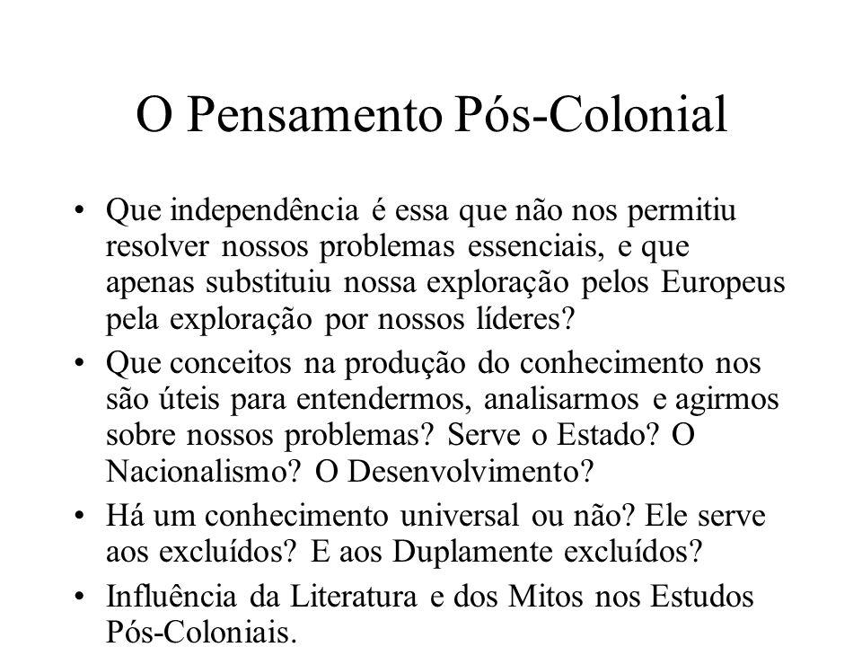 O Pensamento Pós-Colonial