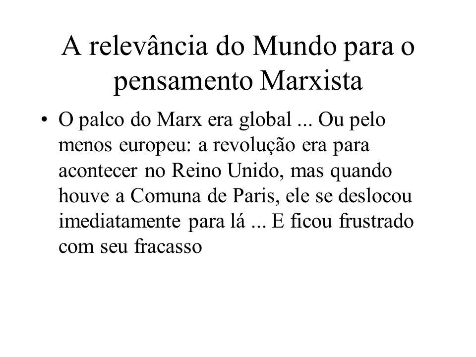 A relevância do Mundo para o pensamento Marxista