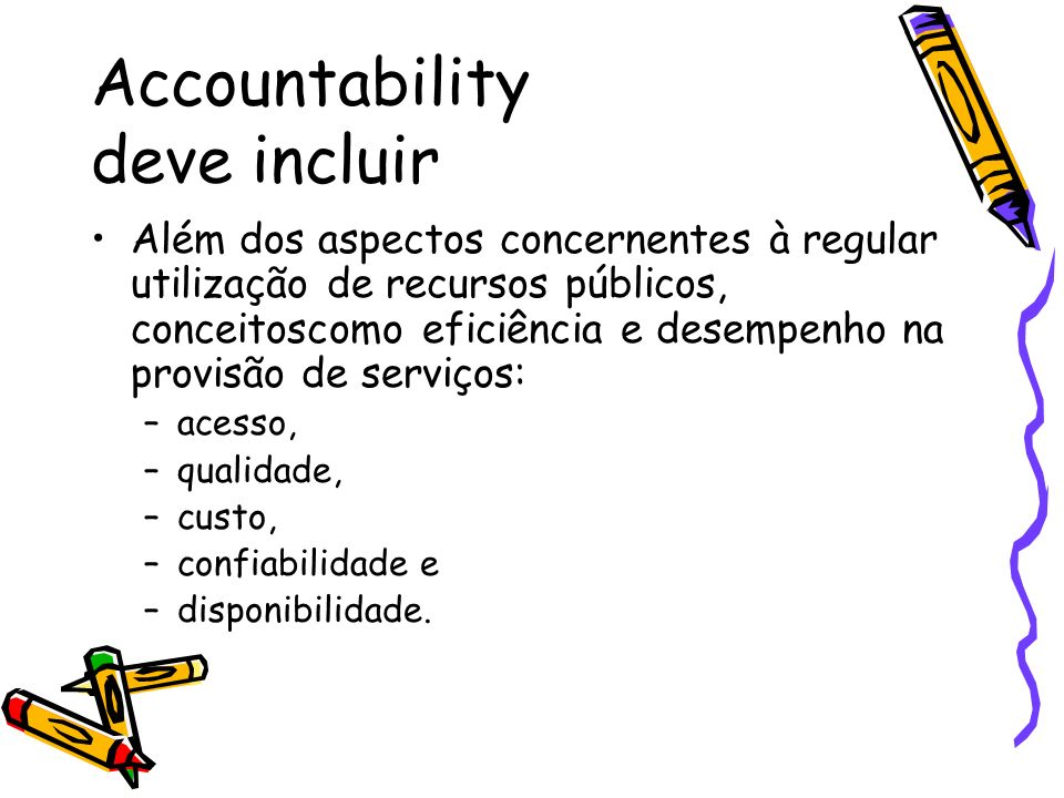 Accountability deve incluir