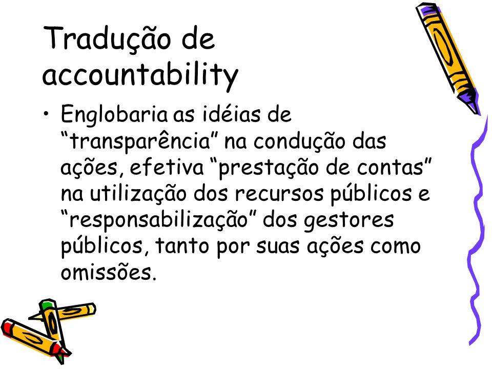 Tradução de accountability