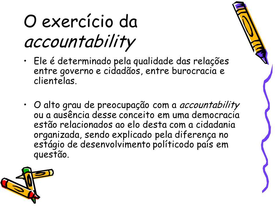 O exercício da accountability