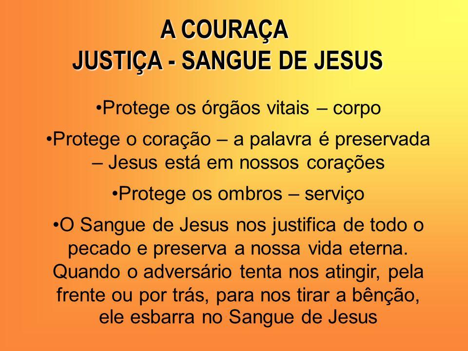 JUSTIÇA - SANGUE DE JESUS