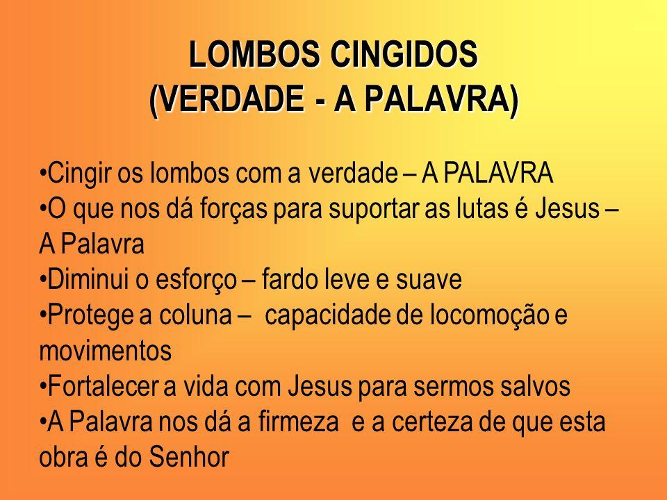 LOMBOS CINGIDOS (VERDADE - A PALAVRA)