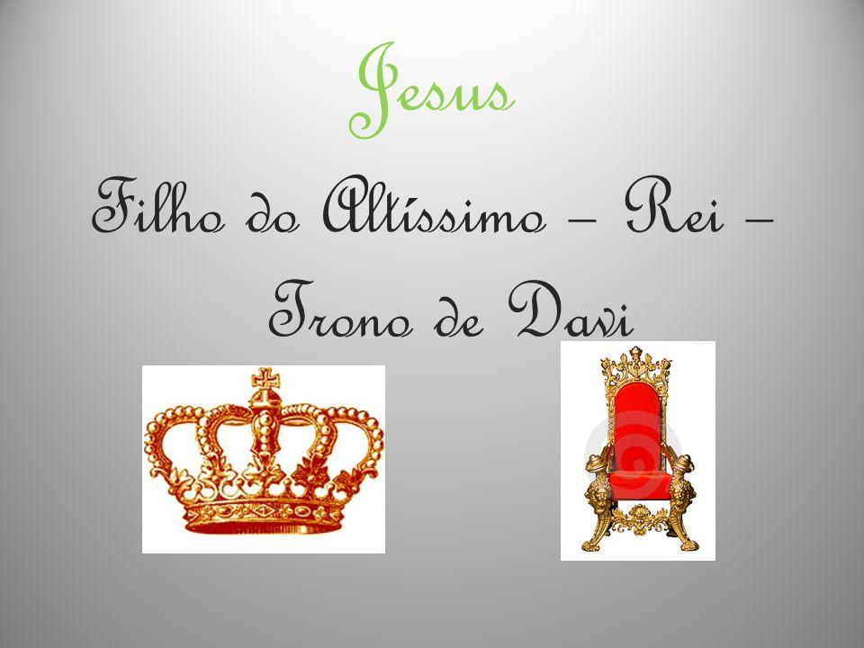 Filho do Altíssimo – Rei – Trono de Davi