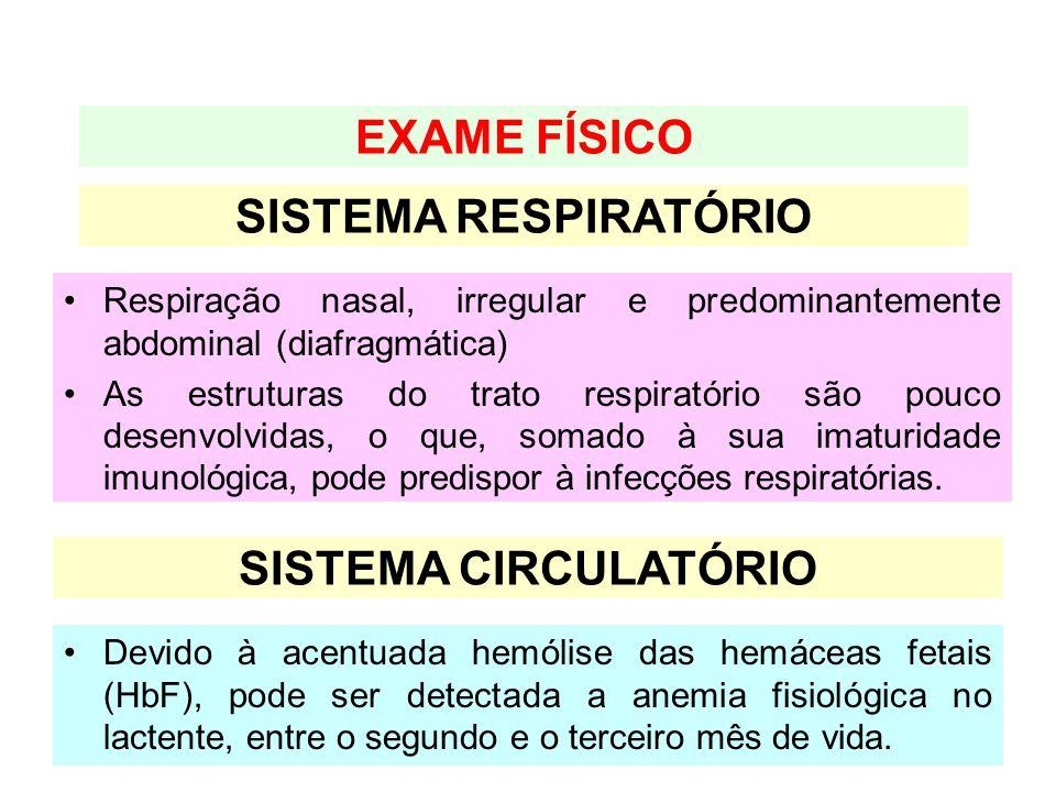 EXAME FÍSICO SISTEMA RESPIRATÓRIO SISTEMA CIRCULATÓRIO