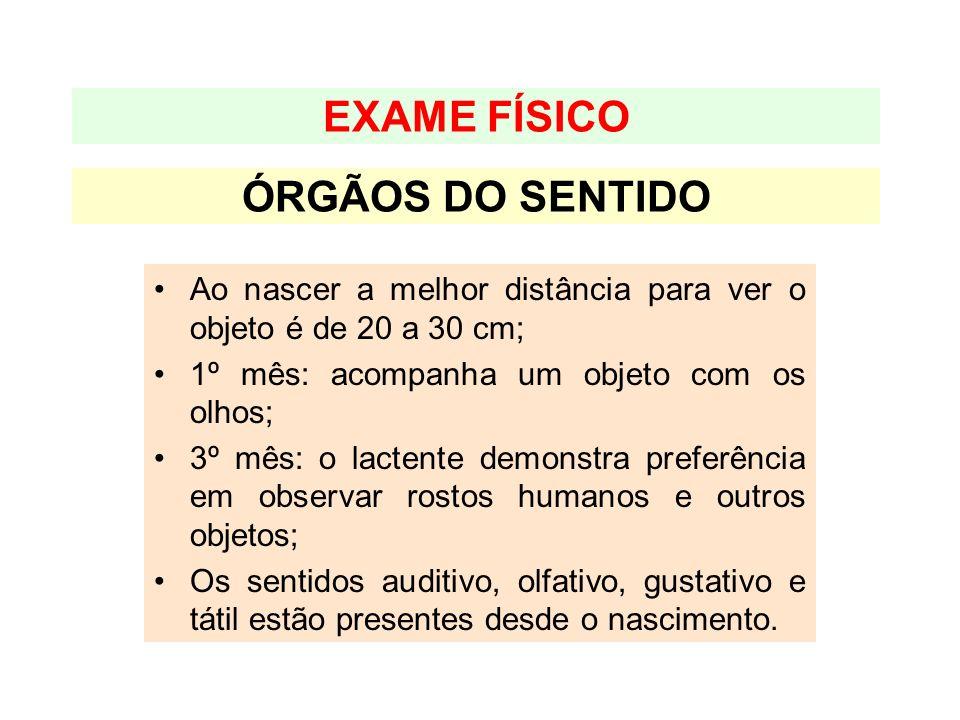 EXAME FÍSICO ÓRGÃOS DO SENTIDO