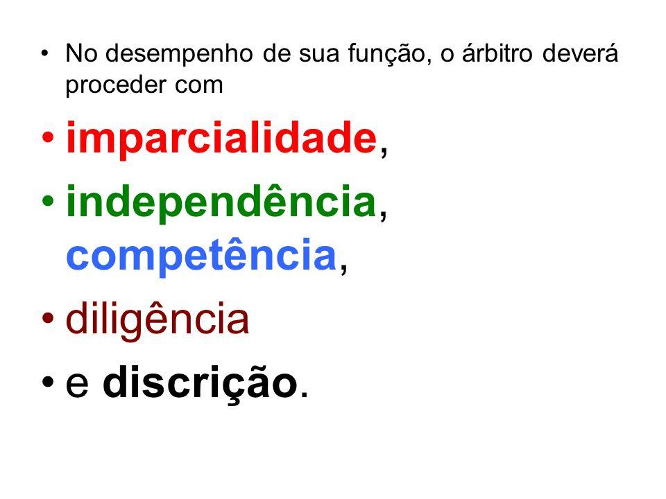 independência, competência, diligência e discrição.