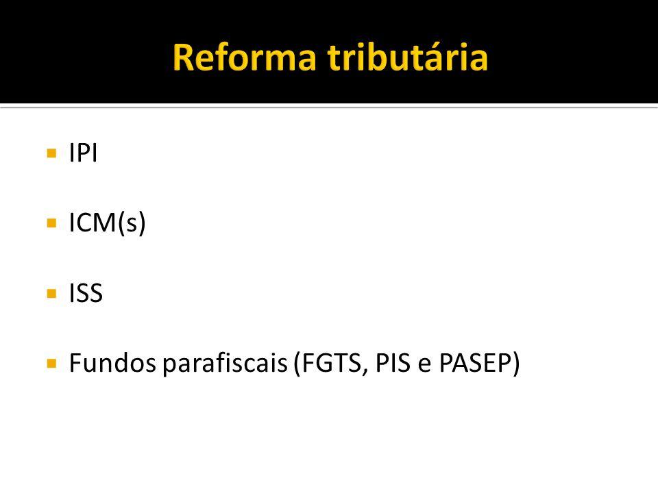 Reforma tributária IPI ICM(s) ISS