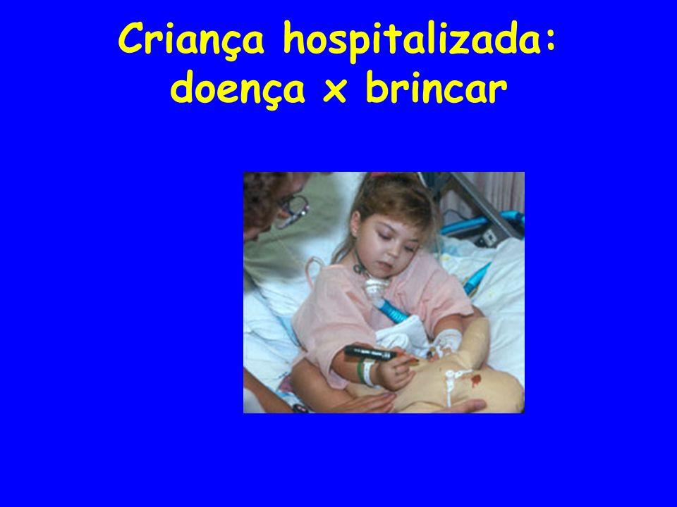 Criança hospitalizada: doença x brincar