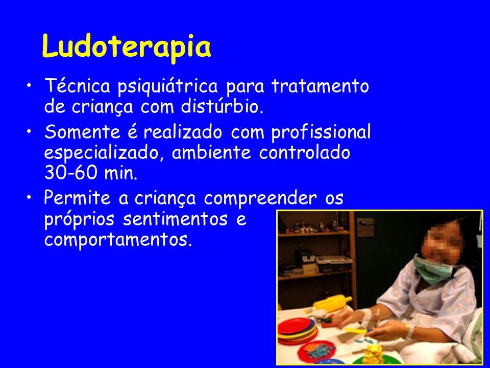 Ludoterapia Técnica psiquiátrica para tratamento de criança com distúrbio.