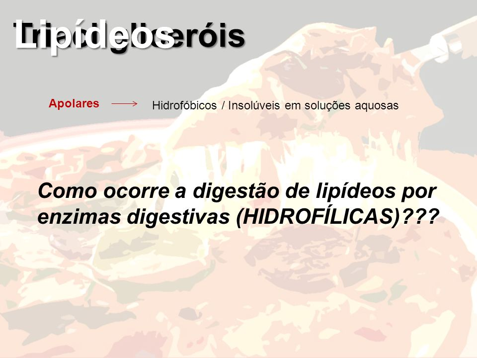 Lipídeos Triacilgliceróis