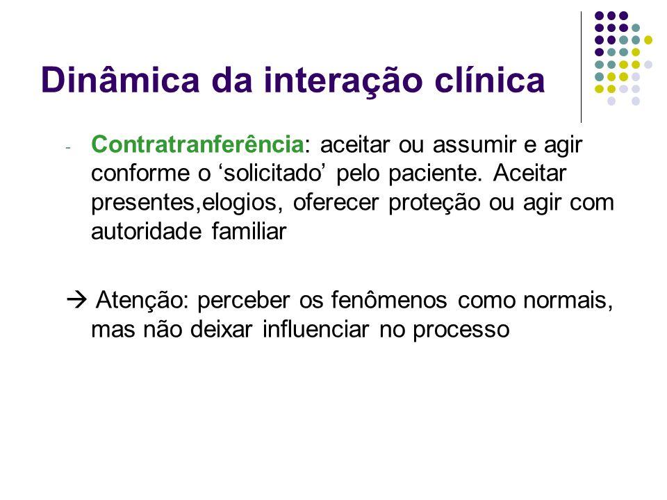 Dinâmica da interação clínica