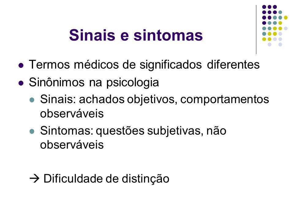 Sinais e sintomas Termos médicos de significados diferentes