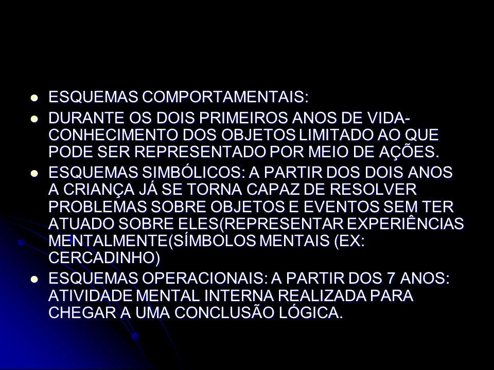 ESQUEMAS COMPORTAMENTAIS: