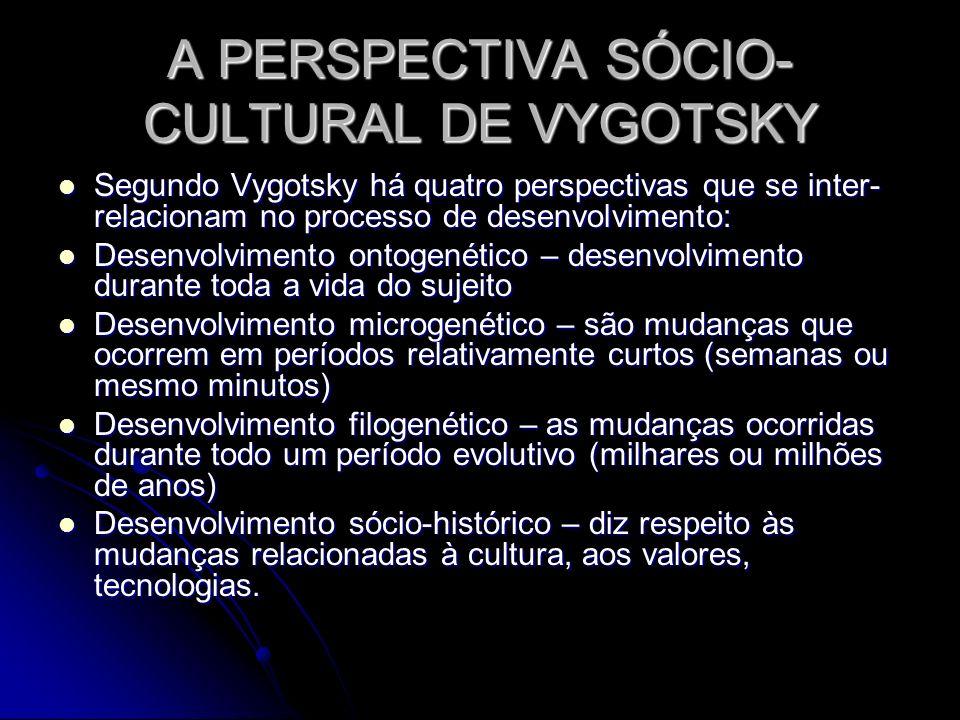 A PERSPECTIVA SÓCIO-CULTURAL DE VYGOTSKY