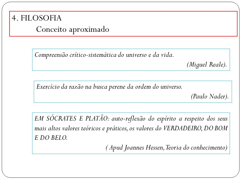 4. FILOSOFIA Conceito aproximado