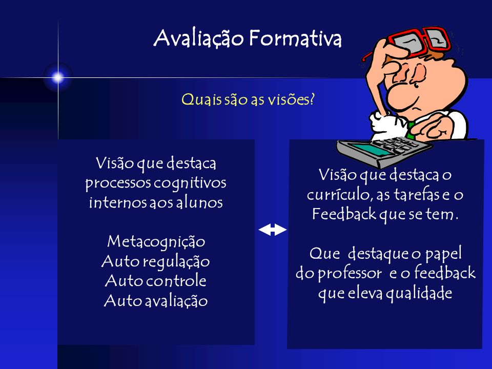currículo, as tarefas e o do professor e o feedback