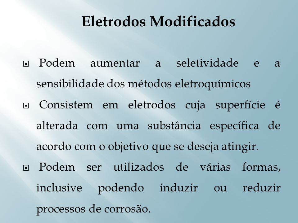 Eletrodos Modificados