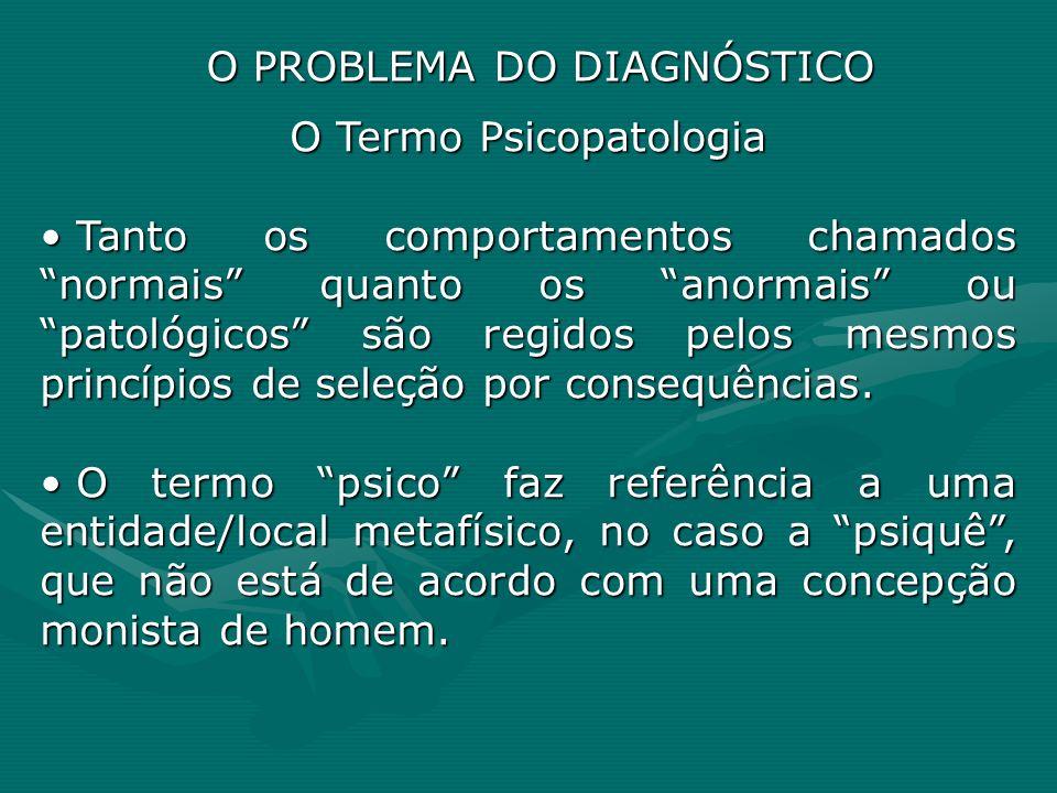 O Termo Psicopatologia