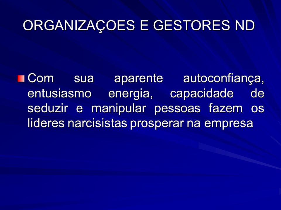 ORGANIZAÇOES E GESTORES ND