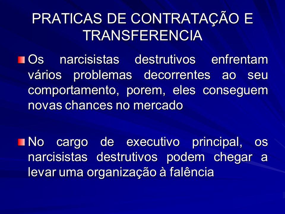 PRATICAS DE CONTRATAÇÃO E TRANSFERENCIA