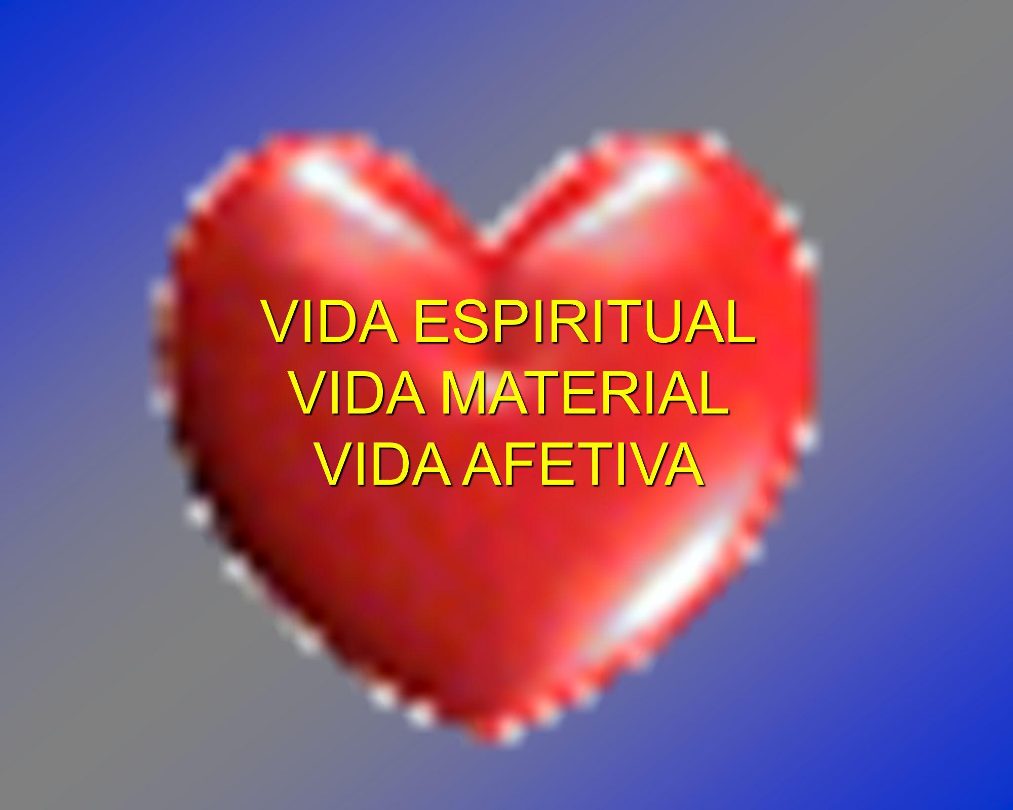 VIDA ESPIRITUAL VIDA MATERIAL VIDA AFETIVA