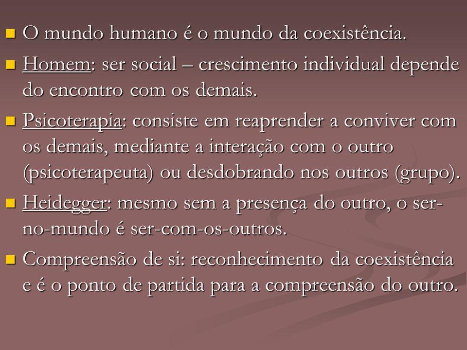 O mundo humano é o mundo da coexistência.