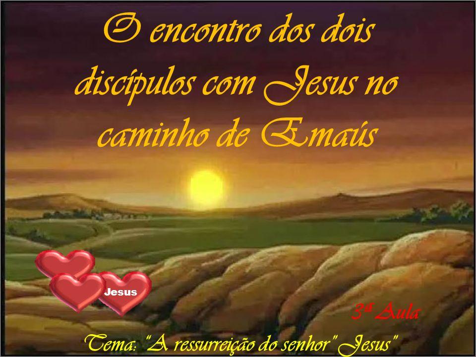 O encontro dos dois discípulos com Jesus no caminho de Emaús